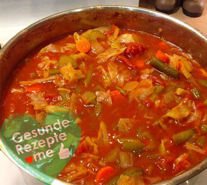 Kohl-Zwiebel-Suppe Rezept zur Gewichtsreduktion