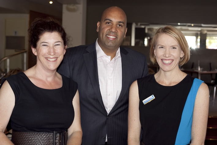Rebecca Lawrence, Anoop Anchal and Councillor Shayne Sutton