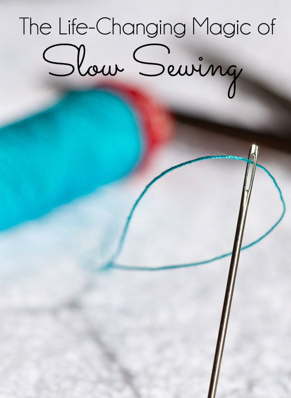Have you heard about Slow Sewing? Taking the time to sew a little something by hand. It's about pausing with a needle and thread and taking and reflecting on your project. Slow Sewing is about creating with your hands.