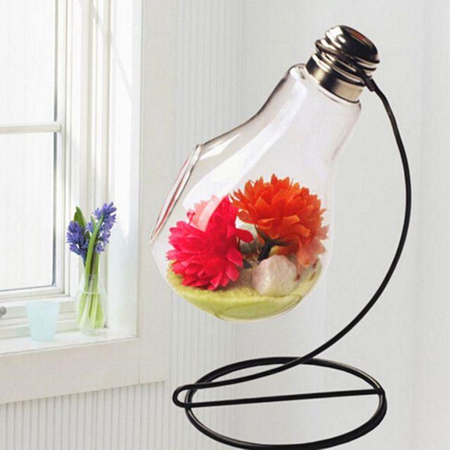 Железная Стойка стеклянные вазы лампы настольные лампы украшения вазы украшения дома Свадьба Ремесла железа стенд цветочные горшки горшки лампы