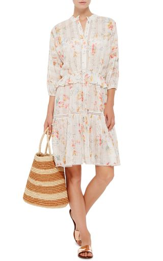 Silk Cotton Voile Belle Floral Dress by ZIMMERMANN Now Available on Moda Operandi