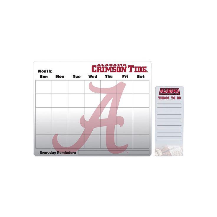 Alabama Crimson Tide Dry Erase Calendar & To-Do List Pad Set, Multicolor
