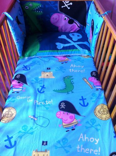 Peppa Pig GEORGE PIG BEDDING Set - Different sizes available - Light Blue - Boys on Etsy, $88.68 AUD