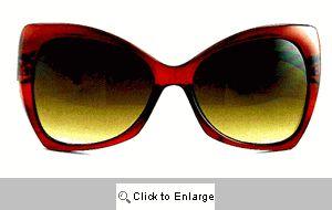 Chloe Upswept Retro Sunglasses - 470 Brown