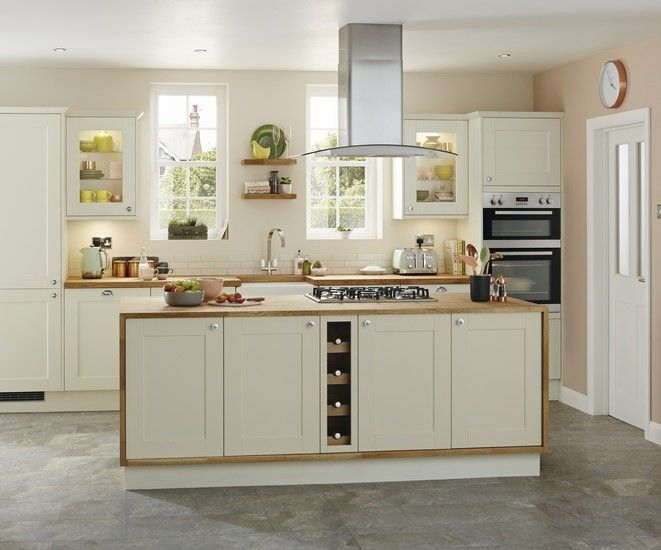 All images © Howden Joinery Limited An 18mm thick Shaker style door with a wood grained detail, available in six colours. Features include extra tall wall units available on selected ...