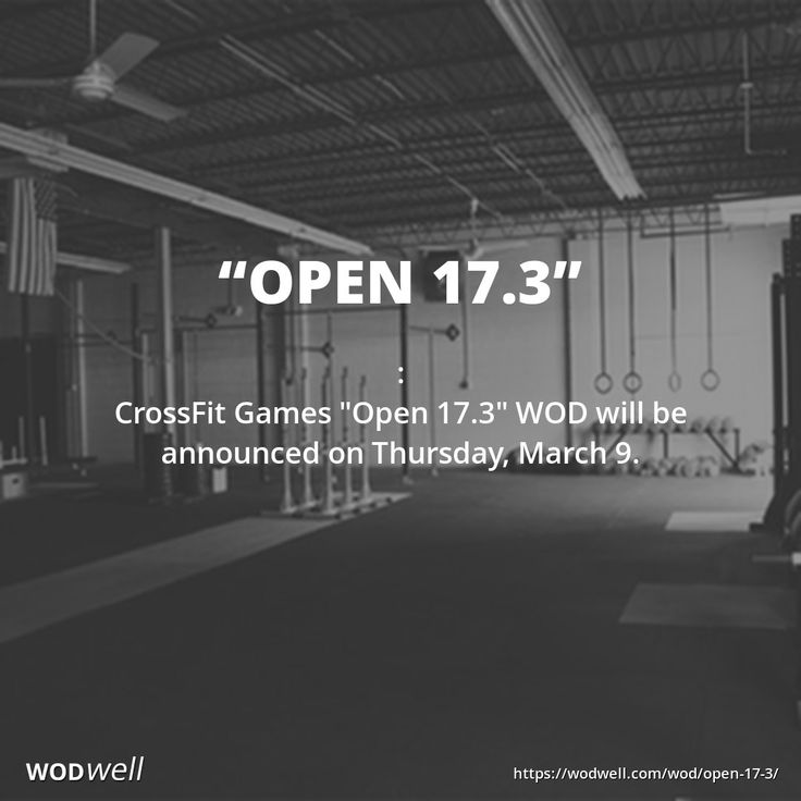 """: CrossFit Games """"Open 17.3"""" WOD will be announced on Thursday, March 9."""