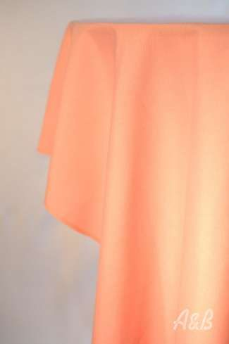 120'' Round Tablecloth in Peach - floor length for a 60'' Round Table