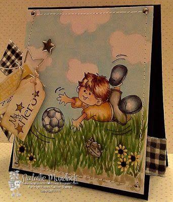 High Hopes Stamps: My Little Hero by Natalie using Gabriel Loves Soccer (S525) & Sentiment Set #3 (U506)