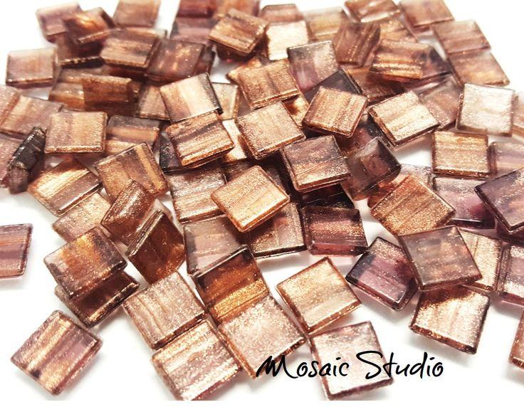 Bronze Gold Thread Tiles 10x10x4mm x100pc by MosaicStudio1 on Etsy