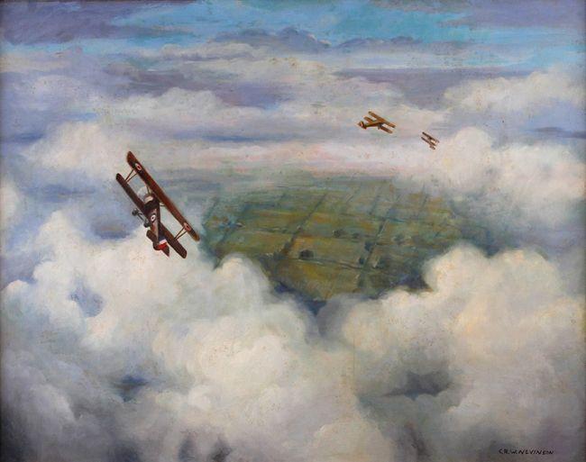 Three British WWI Bi-Planes - Christopher Nevinson