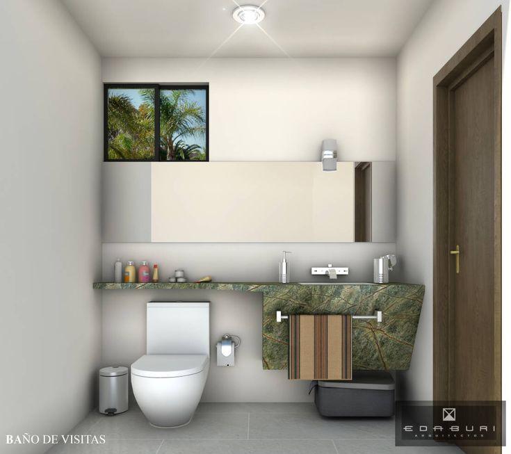Un baño pequeño puede ser tan o más espectacular que uno más…
