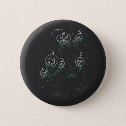 Haunted Pumpkin Vines Button - accessories accessory gift idea stylish unique custom