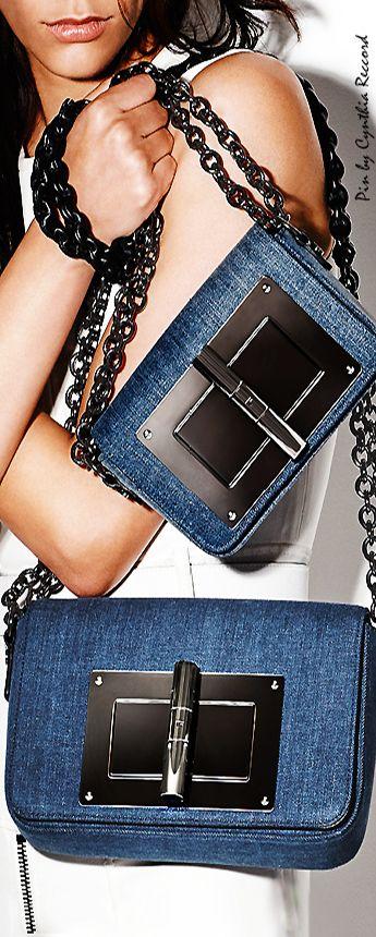 Tom Ford | FW 2015 | Small and medium denim shoulder bag | cynthia reccord