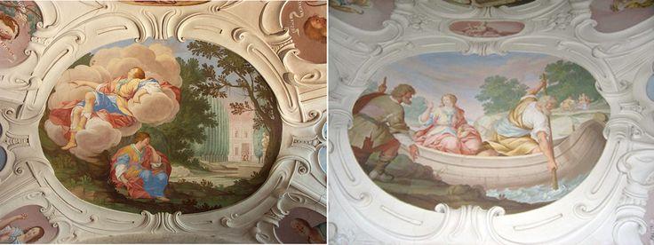Carpoforo Tencalla - výmalba knihovny na zámku v Náměšti nad Oslavou