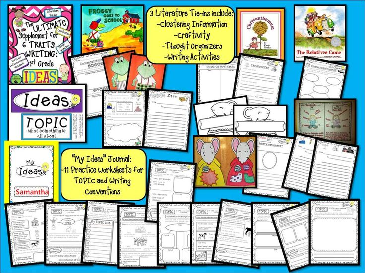 6 1 writing traits ideas Use this cute graphic organizer during your writing lesson on the ideas writing trait to help students organize their ideas and details about each idea during the brainstorming step of the writing process.