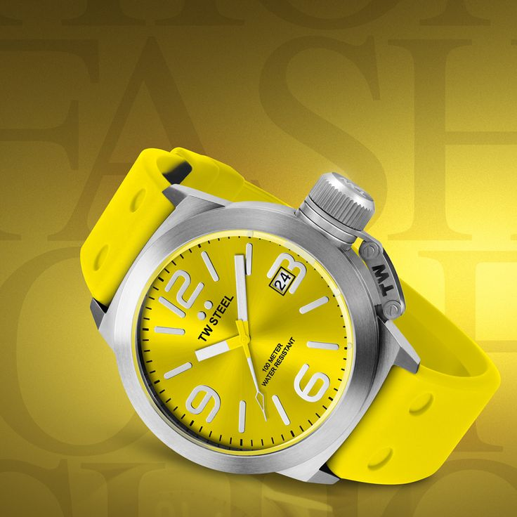 A sunny yellow attention-grabbing large watch by TW Steel