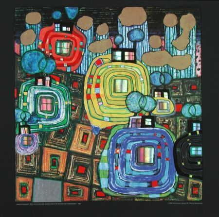 As a result of his experiences as a persecuted by the Nazi regime Hundertwasser developed an anti-totalitarian position early on. He was likely raised by his mother in the popular sense of imperial nostalgia, which was popular in the interwar period.