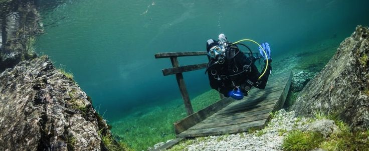 St. Martin chalet vacation packages...Austria/Scuba Diving Grüner See Austria Taucheln St Martin Chalets image cright Marc Henauer