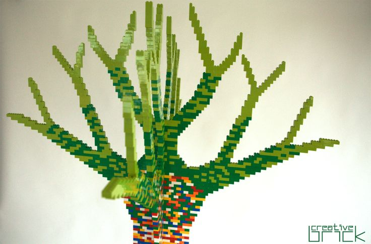 Around 4000 LEGO bricks used, Dimensions: H - 190 cm (74,8 in), at the bottom - 51 cm x 51 cm (20 in x 20 in), at the top - 105 cm x 105 cm (41,3 in x 41,3 in) by www.creativebrick.ro
