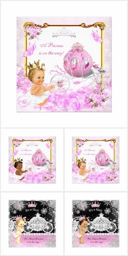 Princess Baby Shower Pink Fairy Tale Carriage