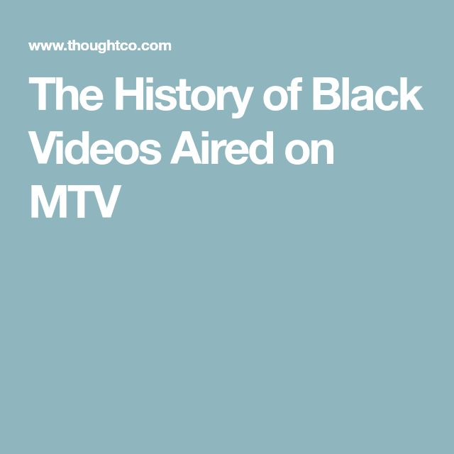The History of Black Videos Aired on MTV