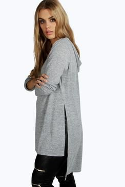 Shelly Side Spit Hooded Tunic