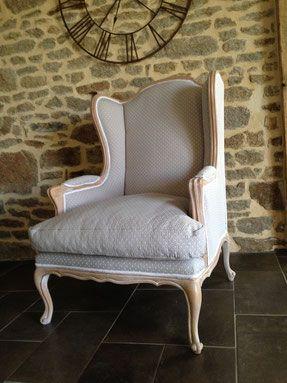fauteuil bergère relooké