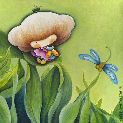 """Репродукции ручной работы. Ярмарка Мастеров - ручная работа Триптих: """"Принцессы цветочной поляны"""". Handmade.Катерина Лукащук"""
