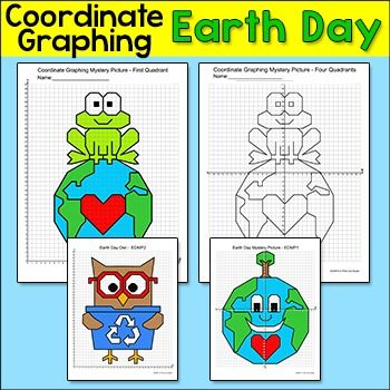 earth day math coordinate graphing mystery pictures earth day activities math math middle. Black Bedroom Furniture Sets. Home Design Ideas