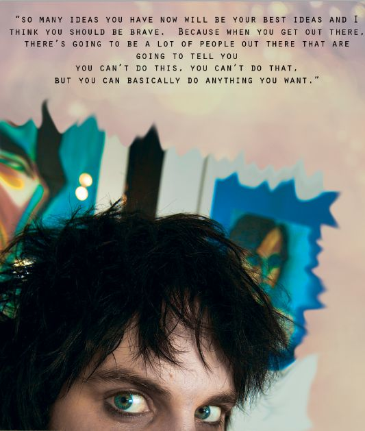 Noel Fielding words of wisdom. Finding this proves that I have someone somewhere looking out for me and sending me just the right things when I need them. :-)