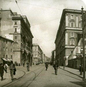 Italy Roma Via Cavour old NPG Stereo Photo 1900