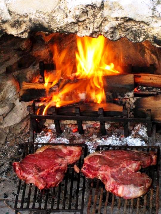 Beef Steak Florentine or Bistecca Fiorentina.  was one of my favorite meals of the week.  #Cortona #TuscanSunWInes @Chatterworks @Harpreet Singh Dent Robin White