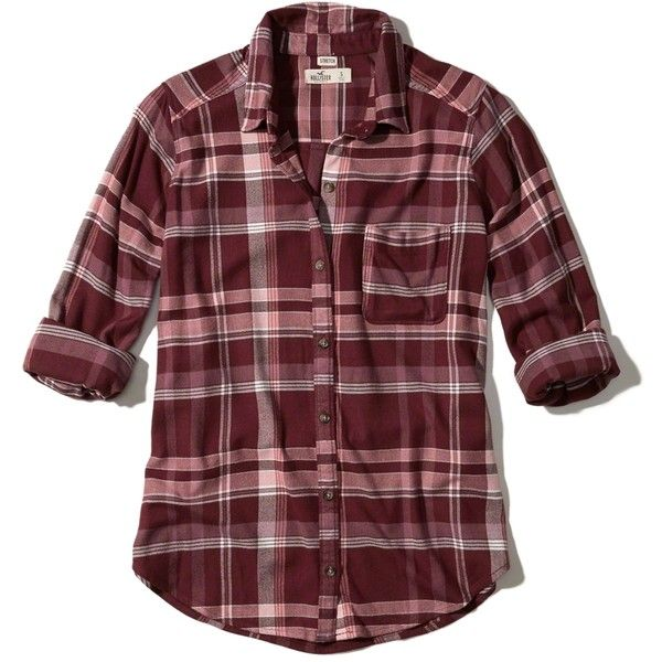 Hollister Oversized Flannel Shirt ($40) ❤ liked on Polyvore featuring tops, burgundy plaid, flannel top, oversized shirt, tartan flannel shirt, plaid shirts and oversized flannel shirt