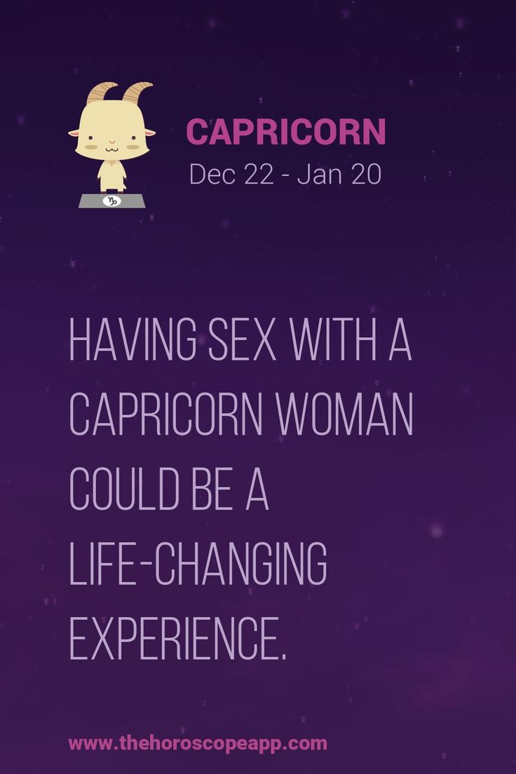 Capricorn Sex Traits 48