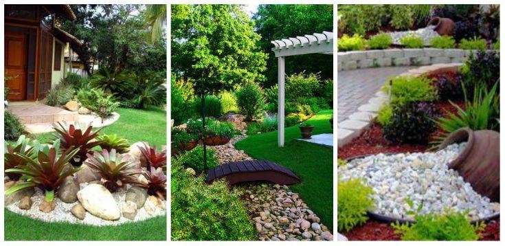 Kreatív kerti dekorációk kövekkel