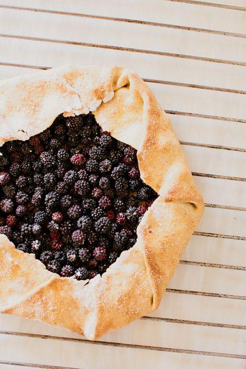 Wild blackberry galette