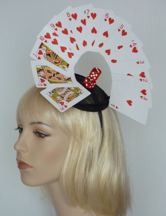 ON SALE  Deck of Cards  Quirky Funky Fascinator. by BillieFrank, $65.00