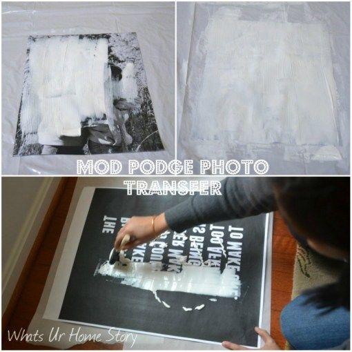 Whats Ur Home Story: Mod Podge Photo Transfer Medium, Photo Transfer Canvas, Photo Transfer Wall Art, Restoration Hardware style vintage word art