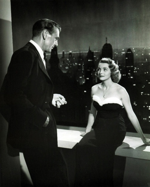 """Gary Cooper & Patricia Neal in """"The Fountainhead,"""" 1949"""