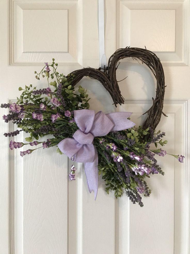 SPRING WREATH,Heart Grapevine Wreath, Valentine Wildflower Wreath,Wedding Wreaths ,Dorm Wreath,Wildflower Wreath,Summer Wreath by Toleshack on Etsy https://www.etsy.com/listing/493783764/spring-wreathheart-grapevine-wreath