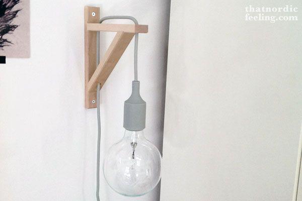 DIY Muuto wall lamp - that nordic feeling