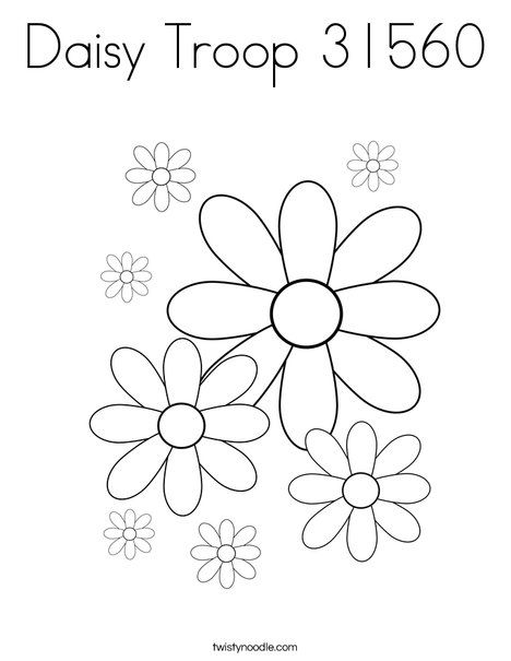 Daisy Troop 31560 Coloring Page - Twisty Noodle | Girl ...