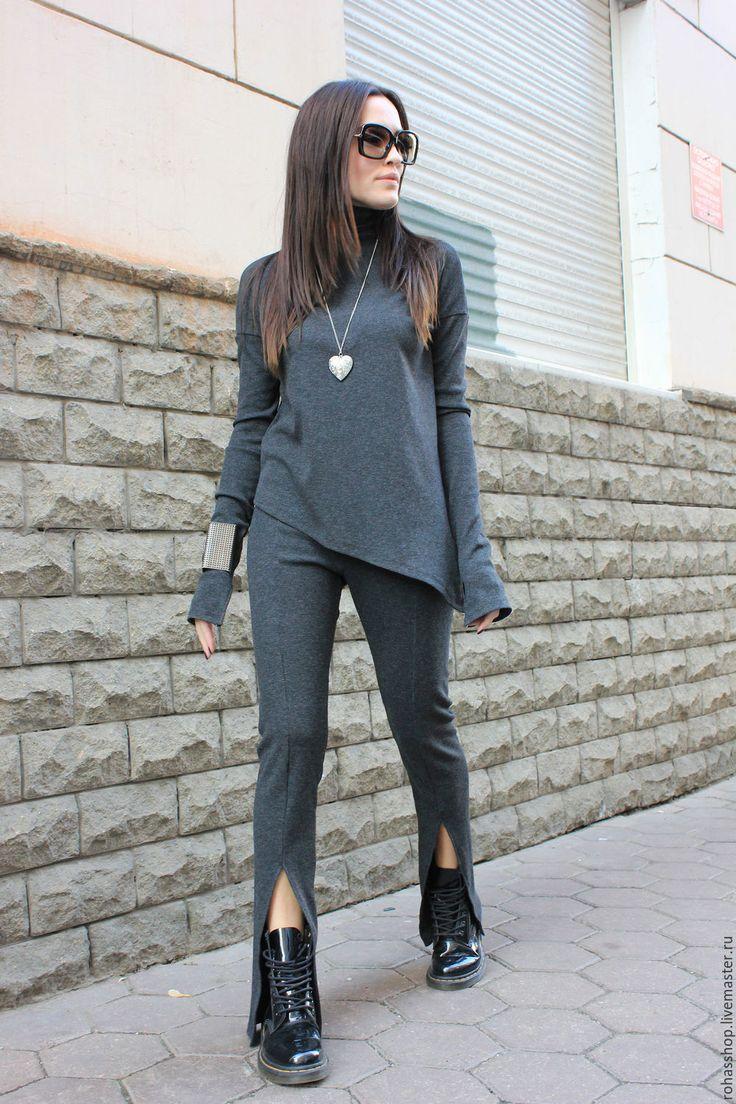 Купить Брюки Grey - серый, брюки, серые бусины, леггинсы, серые леггинсы, стильные брюки