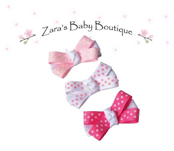 Bow Clips * Baby Hair Clips * Polka Dot Hair Clips * Pink Clips * White Clips * Green * Flamingo Hair Clips * Clippies * Baby Shower Gift by ZarasBabyBoutique on Etsy