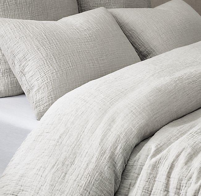 Italian Crinkled Linen Cotton Duvet Cover Cotton Duvet Cover Cotton Duvet Luxury Bedding