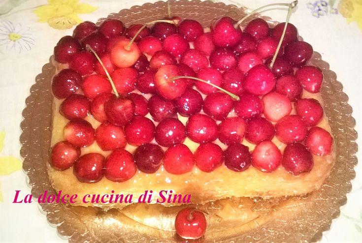 Torta di ciliege senza latte