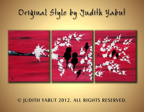 Black Friday Sale Art Painting Abstract Original by JudithYabut, $199.00