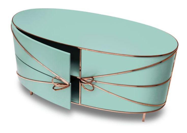 88 Secrets: Nika Zupanc sideboard in pastel colors designed for Scarlet Splendour