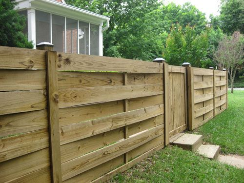Love this 'woven' fence look. Seen it done with steel posts, but I see how it could be done with wood now.