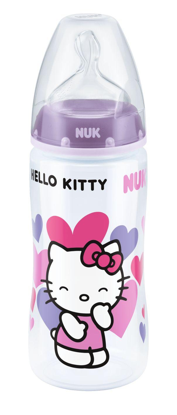 Biberão NFC Hello Kitty 300ml, com tetina em silicone tamanho 2(M). www.nuk.pt